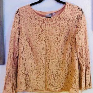 Dusty Rose Lace Top [EUC] Size M